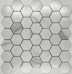 ألواح فسيفساء من الألومنيوم السداسي الشكل متجانبة معدنية بلاط للزينة المنزلية