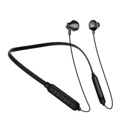 야외 스포츠용 최고의 BT 넥밴드 충전식 무선 이어폰 헤드폰 방수 마이크