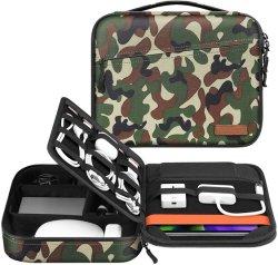 Elektronische Organizer-tas, draagbare accessoires, opbergruimte voor kabel/snoer/oplader/telefoon/USB/SD-kaart, draagtas voor de hoes van de Portfolio Tablet voor de iPad PRO-tas