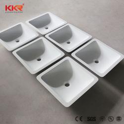 Dispersori rettangolari di marmo della ciotola dell'imbarcazione della stanza da bagno di Kkr Corian