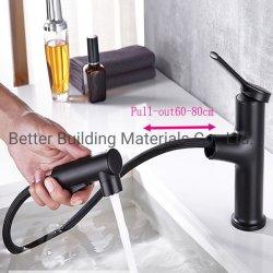 水蛇口の黒真鍮水洗面器の蛇口を引き出しなさい