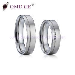 2019黄銅の銅の宝石類の結婚指輪セットはリングの高品質をカスタム設計する