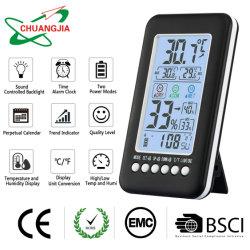 Wekker van de Kalender van Backlight van de Controle van de lijst de Correcte Met de Hygrometer van de Thermometer