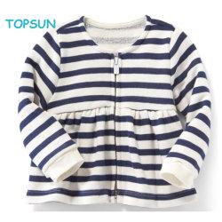 Os meninos Zipper Striped Cardigan Suéter Cotton-Cashmere misturados crianças chapéus Unkut
