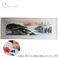 中国のFengshuiハンドメイドの絹のSushoのための大きいサイズの刺繍の芸術壁掛け