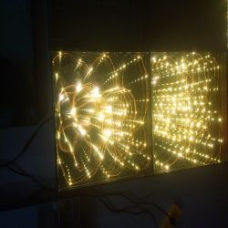 specchio stellato dorato 3D Dance Floor di 1*1m