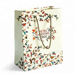 Recyclable Papier Art d'impression couleur personnalisé un sac de shopping pour boutique de cadeaux