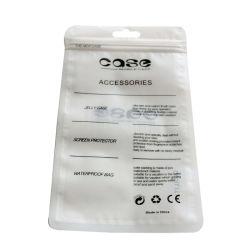 تصميم الطباعة من قبل مصنعي المعدات الأصلية (OEM) حقيبة هاتف محمول مزودة بسحّاب حقيبة تغليف/هاتف بلاستيكي حقيبة شفافة للآلة البلاستيكية
