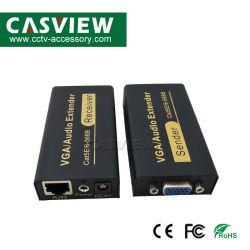 100m 328Ft Extensor VGA 1080P VGA Extensor de áudio e vídeo através de um único conector RJ45 Cat5e/6 Receptor de remetente