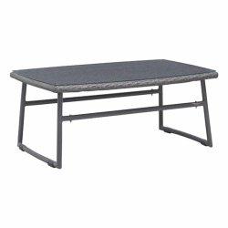 Для использования вне помещений серого цвета PE плетеной плетеной Бич кофе в таблице