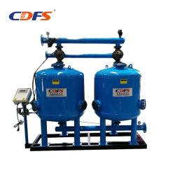 100m3/H zwei 1200mm Becken-industrieller Überbrückungs-Sandfilter
