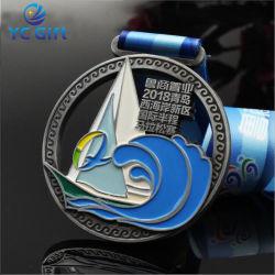 Moulage en alliage de zinc personnalisée professionnel Sport olympique voilier médaillon Marathon Art métal Award Médaille pour cadeau souvenir (MD07-A)