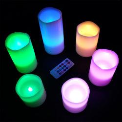 배터리 작동식 원격 LED 캔들의 무연 캔들