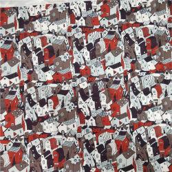 Nieuwe Manier Afgedrukte Polyester Geweven Stof voor de Laag van de Winter