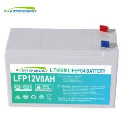 بطارية ليثيوم بطارية ذات دورة عميقة قابلة لإعادة الشحن بطارية 12 فولت ليثيوم أيون بطارية LFPO4 لبطارية وحدة UPS 8AH 10AH 20 أمبير في الساعة
