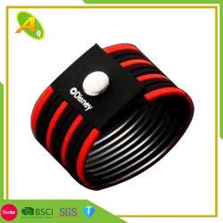 Acoge con agrado ajustable de silicona Brazalete Pulsera USB como decoración (050)