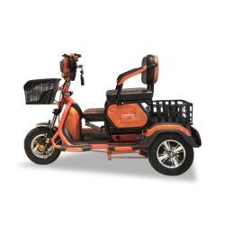 Triciclo eléctrico de tres ruedas con dos asientos extraíbles para recoger los niños