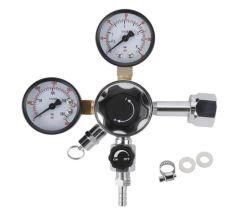 デュアルゲージ CO2 ドラフトビア分注レギュレータ、 0 ~ 60 psi 低圧、 0 ~ 3000 psi 高圧ゲージ、 CGA-320 Kegerator レギュレータ(安全圧力リリーフ V 付き)