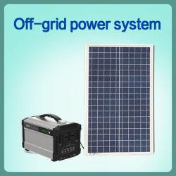 떨어져 격자 가정 태양 에너지 시스템 120ah 500W AC/DC 리튬 건전지 (단청 Si 100W) 4 태양계 태양 에너지 태양 에너지