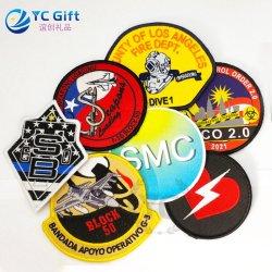 Commerce de gros de vêtements de mode d'étiquette personnalisée accessoires du vêtement tissé de Badge brodé uniforme de correctifs nous Pompiers en Chine