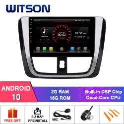 Witson Android 10 Alquiler de navegación DVD para Toyota Yaris 2016