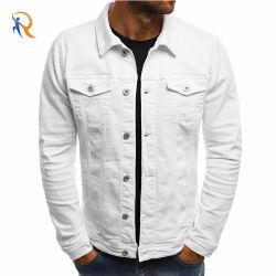 新しい方法卸売の平野によって洗浄される綿の偶然のジーンズのジャケット