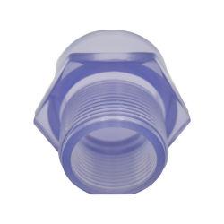 Montaggio di plastica trasparente dell'adattatore maschio del PVC della radura di BACCANO Sch80 di Sch 40
