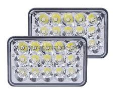 5 Scheinwerfer des Zoll-45W 12-24V 4X6 Epistar IP68 LED, Arbeits-Licht, Arbeits-Lampe LED für LKW, Auto, nicht für den Straßenverkehr