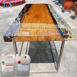 液体木表の鋳造のための極度の明確な透過エポキシ樹脂Ab接着剤2部の