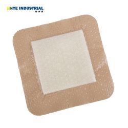 Apósito de espuma de silicona suave ultra absorbente con borde de espuma adhesiva impermeable Apósito de espuma cuadrada de 10 cmx10cm; 12,5 cm x 12,5 cm; 18 cm x 18 cm