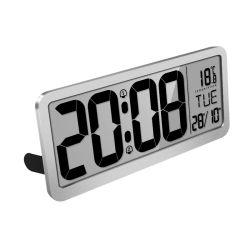 """14 """"大きいLCDのカレンダの表示デジタル電子寝室壁に取り付けられた表の目覚し時計"""