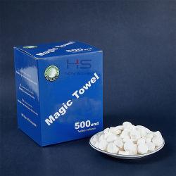 No tejido de viscosa 100%nuevo estilo Magic toalla comprimida de tejido de moneda