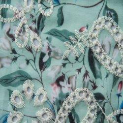 Poly gasa Chiffon Imprimir tejido bordado de prendas de vestir 60*60/90*88