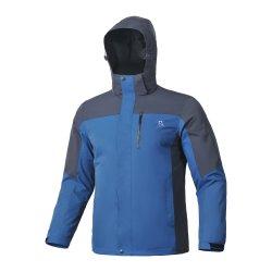 Los hombres de moda impermeable al aire libre/Windproof/transpirable Hoody chaqueta con ropa de invierno escalada Parka Azul marino/Color azul