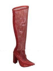 Señoras la moda botas de largo.
