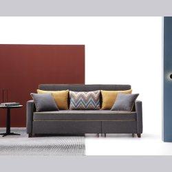 غرفة معيشة ومنزل بتصميم حديث مع أريكة يمكن طيها على القماش أرائك مريحة للنزلاء وأثاث