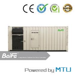 1100kw contenedores Contenedor de 20 pies de Energía Eléctrica de Gas/Generador Diesel Motor Mtu Powered by