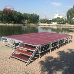 Boda al aire libre DJ Moda Show Móvil Luz extraíble Podio Anti-Skip Plataforma resistente al agua escenario portátil para el evento de concierto