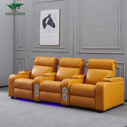 Bestes verkaufenitalienledernes Recliner-Sofa mit Massage