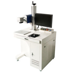 ماكينة فائقة الدقة تعمل بوضع علامة من ألياف الليزر للحبر من الألومنيوم الصلب الطباعة