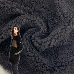Tessuto a maglia 100% poliestere lana Faux Fur Sherpa Fleece Tessuto per coperta e camice