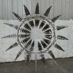 공원 인테리어를 위한 매혹적인 야외 금속 조각품