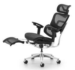 Multifunctionele moderne Mesh Office Furniture Aluminium Base Executive ergonomisch draaibaar Manager schuifzitje High Back Reclining Office Chair