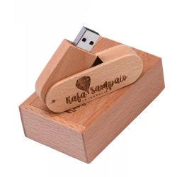 Fotografia regalo di nozze ruotabile legno USB Flash Drives Pendrive 8GB Disco rimovibile generico U da 32 GB 16 g.
