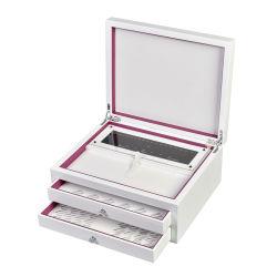 贅沢なLeatheretteのペーパー宝石類の木箱(SH-51)