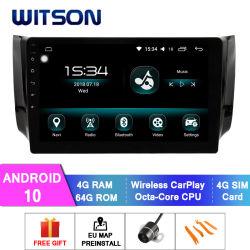 Automobile DVD dello schermo di tocco del Android 10 di Octa-Memoria di Witson per il pulsar 2012-2014 dei Nissan 2012-2016 Sylphy/B17 Sentra America del Nord