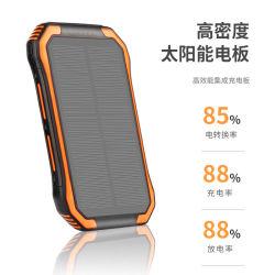 Banco de energia solar 30000mAh lâmpada Camping Solar Exterior fonte de alimentação carregador sem fio móvel com luz LED para SOS de emergência