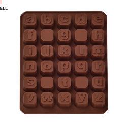 Letras del alfabeto/Número de reutilizables de silicona molde de tarta de chocolate publicidad promocional regalo