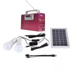 Использование солнечной энергии комплект со светодиодной лампы панели солнечных батарей, батареи, контроллера заряда