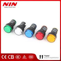 고성능 LED AC/DC 12 - 220V 파일럿 램프 22mm 표시등